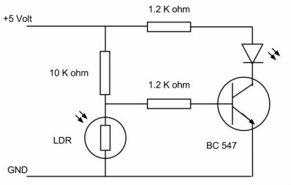 Ldr Circuit Pcb on lighting diagram